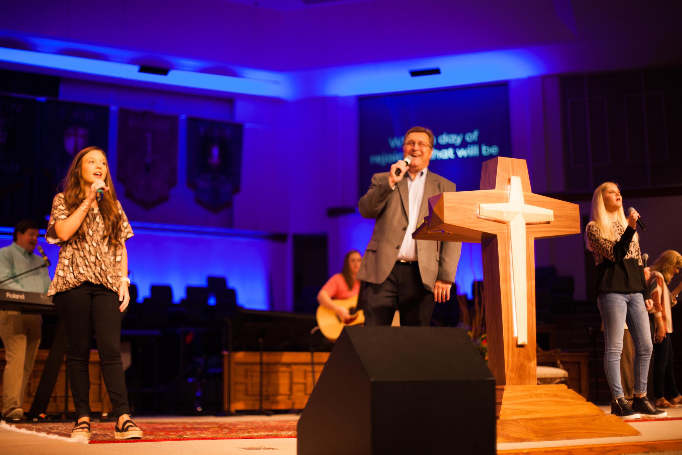 Ken leading worship